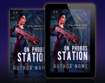 Premade Science Fiction Book Cover. Customizable.