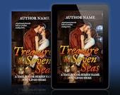 Premade Ebook Cover: High Seas Historical Romance. Pirate or Rogue, Ship Captain. Customizable.