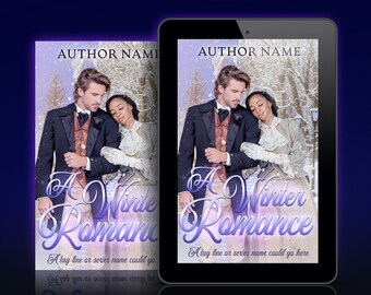 Premade Ebook and Print Cover: Historical Winter Holiday Christmas Romance. Customizable.
