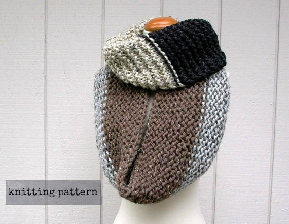 Cowl A Bunga Infinity Scarf Knitting Pattern Chunky Circle Scarf Knit Pattern Loop Scarf Knit Pattern Oversized Cowl Knitting Pattern