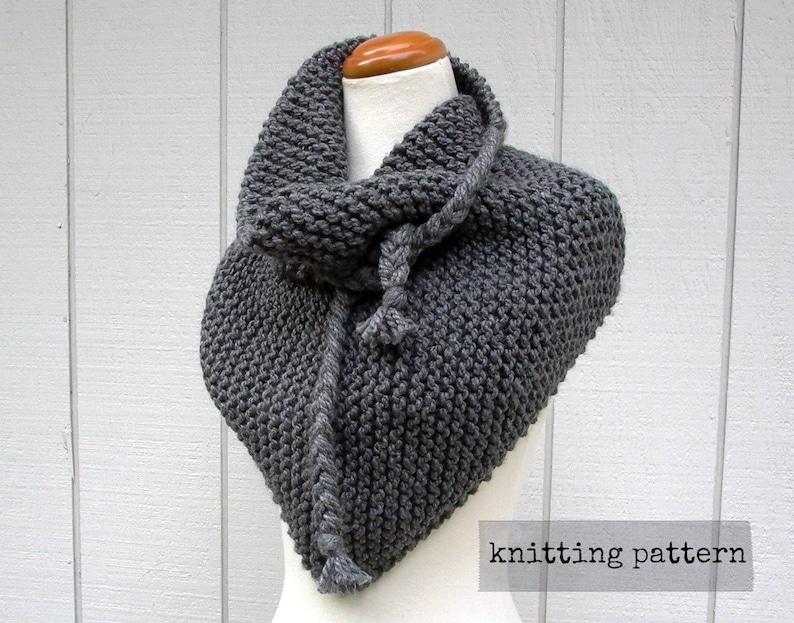 Isosceles Easy Knitting Pattern Oversized Triangle Scarf Etsy