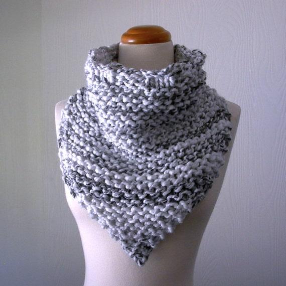 Bandit Bandana Cowl Knitting Pattern Chunky Knit Triangle Etsy