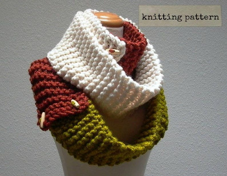 As You Like It Knitting Pattern Convertible Cowl Neck Scarf Etsy