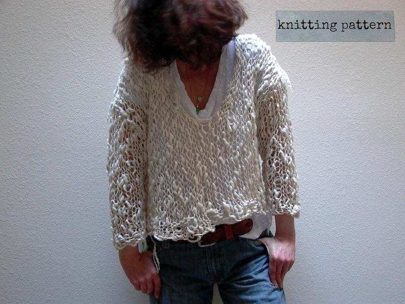 576f0ee12 Sweater knitting pattern . Weekender knit sweater pattern .