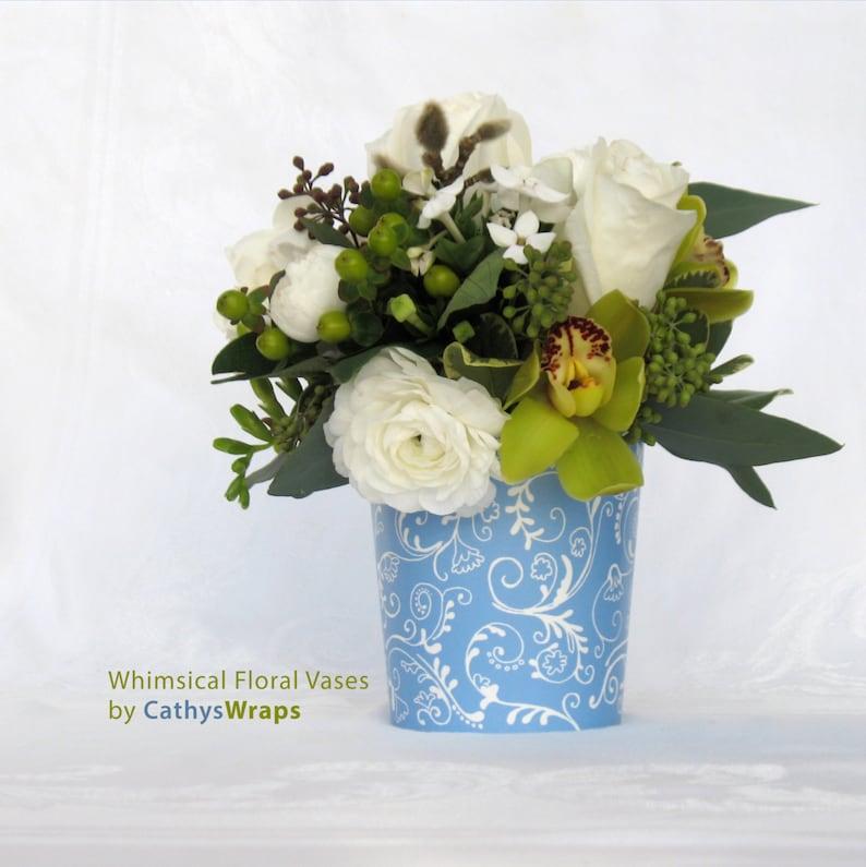 3 Serenity Periwinkle Blue Vases & Flower Pots Flower image 0