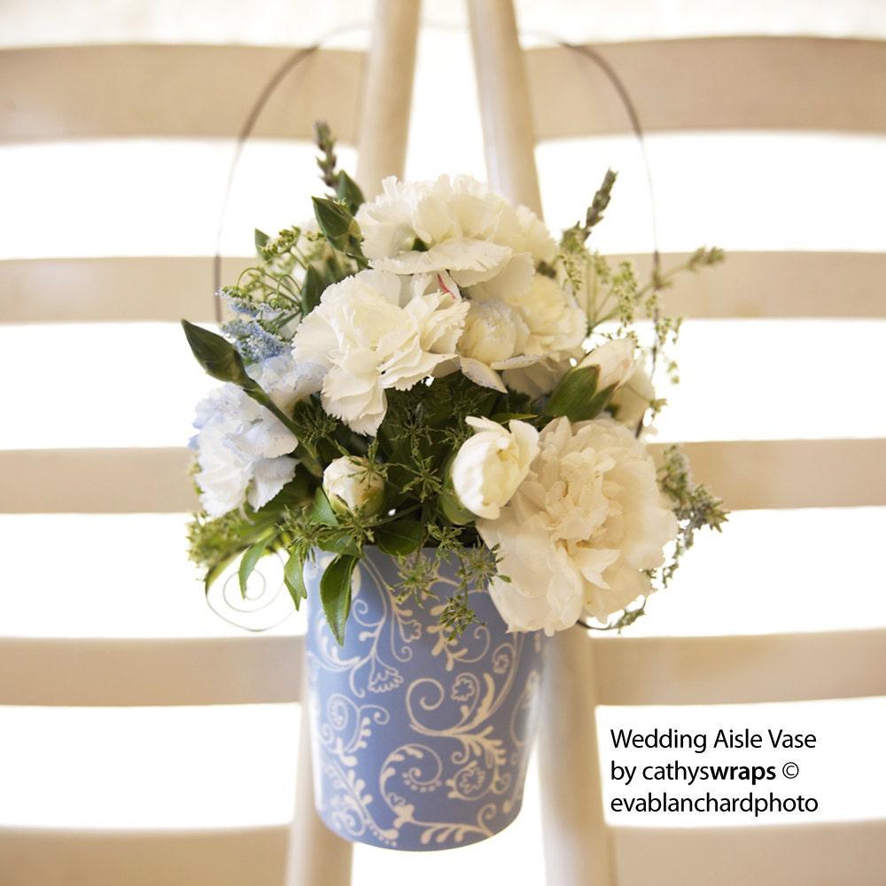 Flower Aisle Wedding: Wedding Ceremony Aisle Flower Vases Pew Decorations Pew