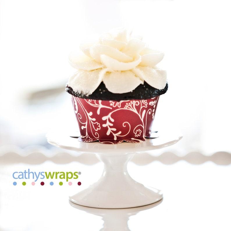 12 Tea Cup Cupcake Wraps Tea Party Decorations  Birthday image 0