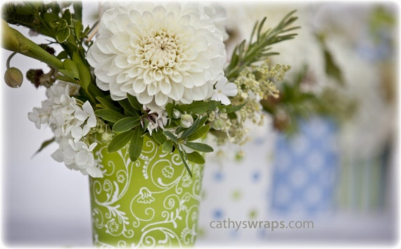 14 Polka Dot Stripe Damask Flower Vases Flower Pots Table Etsy