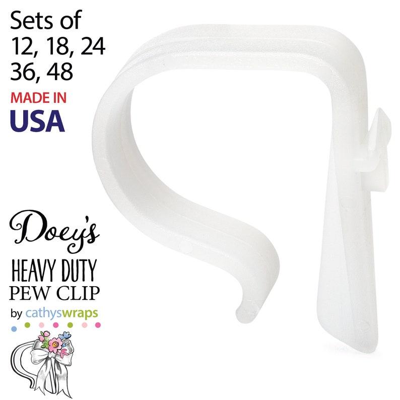 Doey's HEAVY DUTY Pew Clips  Attach Elegant Wedding Aisle image 0