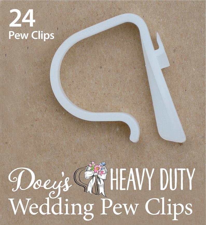 Doey's HEAVY DUTY Pew Clips attach Wedding Aisle Pew image 0
