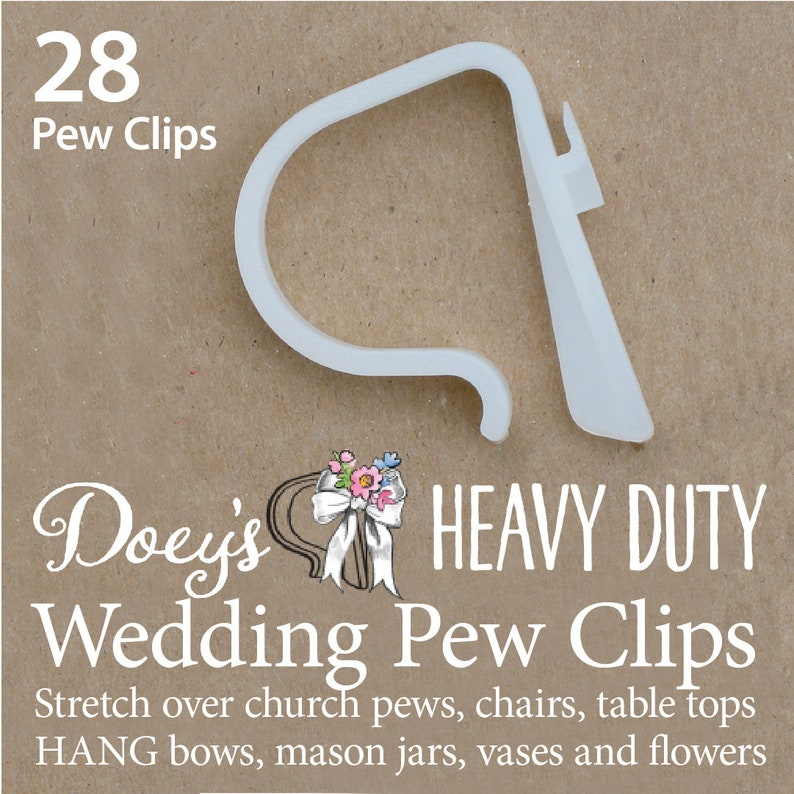 Wedding Pew Bow Clips secure Wedding Ceremony Pew Decorations image 0