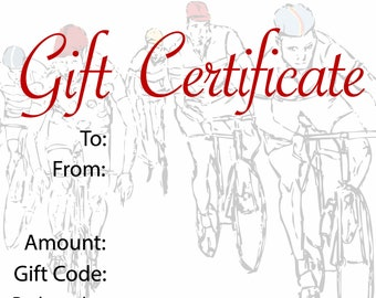 Red Dots Cycling Gift Certificate