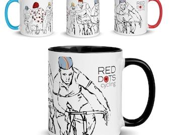Red Dots Cycling Mug