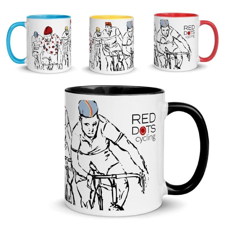 Red Dots Cycling Mug image 0