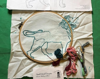 Sandi Bard Designs Dentzel Carousel Lion Cross Stitch Kit
