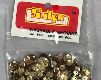 Sulyn Sequins 5mm Gold Vintage