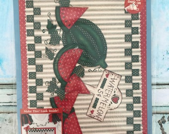 Vintage Plaid Homespun 57655 Watermelon Patch Iron-On Transfer