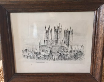 Framed Lincoln Cathedral Print