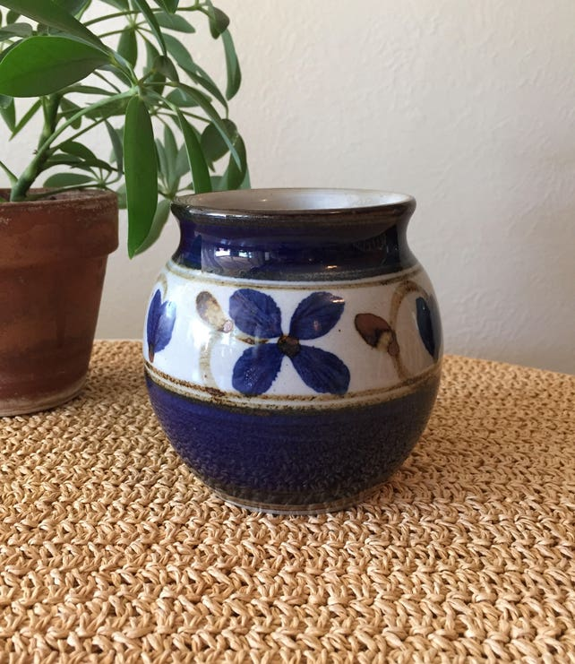 Designhuset Vase Blue Vase Swedish Pottery Swedish Vase Etsy