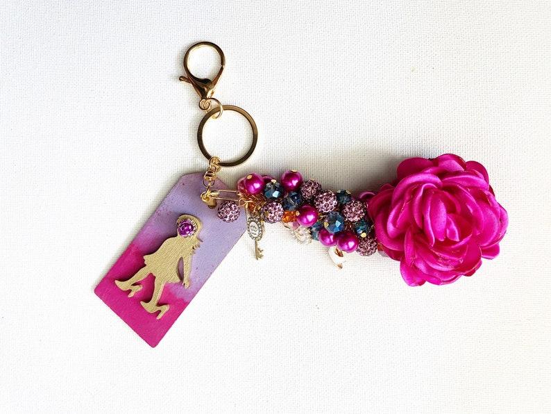 Make a Statement Unique Keychains Positive Affirmation Strong Women Lead