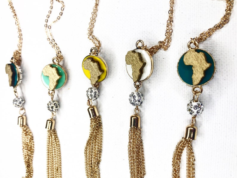 Map Pendant Necklace African Charm