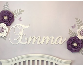 wall letters wall hanging wooden name painted name nursery name sign glittered wooden name wood sign wall decor