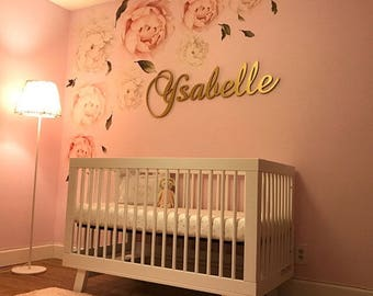 wooden letter wall decor. Personalized Baby Girl Nursery Decor Wood Letters Wall Wooden For Signs Large Kids Room Letter
