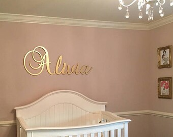 Baby Girl Nursery Decor Nursery Decor Girl Nursery Letters, GLITTER  LETTERS, Wood Letters, Nursery Name Sign