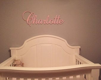 Glittered Nursery Decor - Nursery Wall Art - Custom Name Sign - Baby Name Plaque - Wooden Name Sign - Name Photo Prop - Wooden Sign