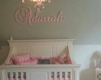 Wall Letters - Nursery Decor - GLITTERED Large Name Sign