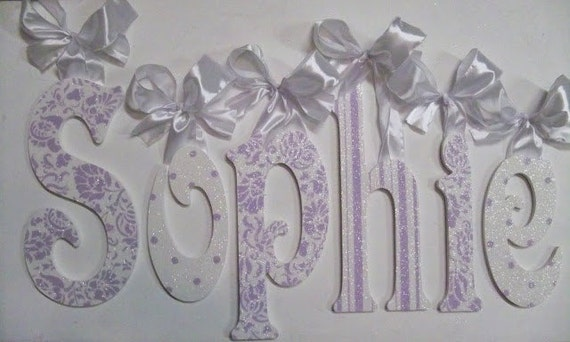 Wood Letters Wooden Wall Letters Baby Name Letters Etsy