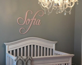 Nursery Name Sign - Nursery Decor - Wall Letters - Wooden Letters - Girls Nursery Decor - Wall Letters - Wall Decor - Name Sign -GLITTER