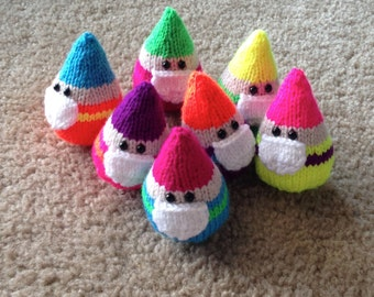 Knit Neon Gnomes - assorted neon colors