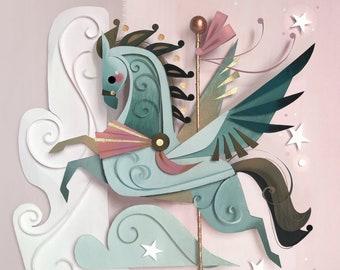Carousel Pegasus Print
