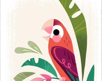 Tiny Macaw Print