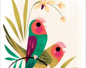 Tiny Lovebirds Print