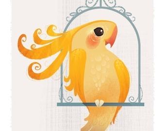 Yellow Birdie Mini Print