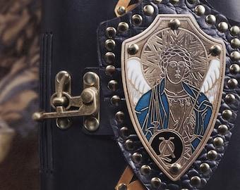 Journal, leather journal, Archangel, angel journal, Archangel Michael, icon journal, leather book, iconography, religious journal, spiritual