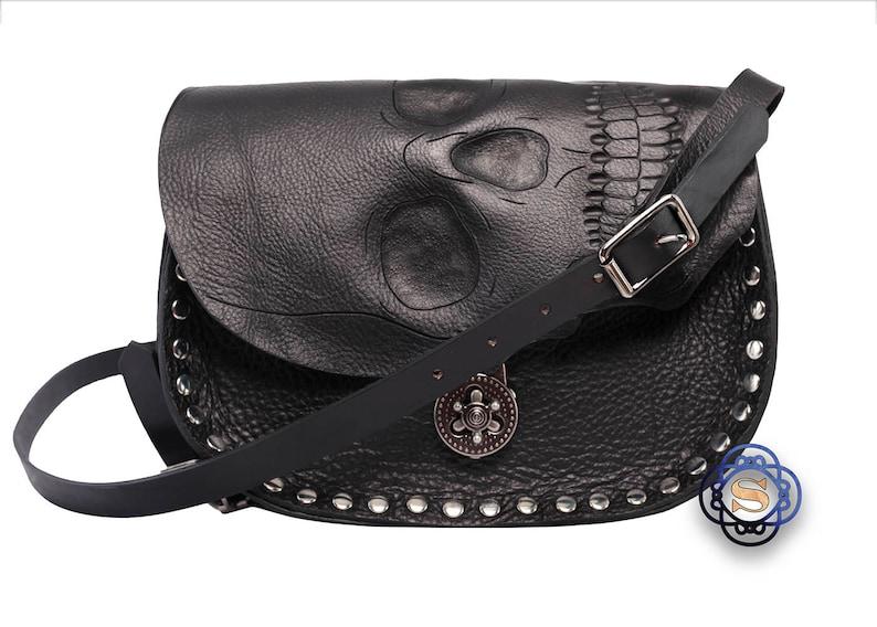 54919d6a6c Human skull purse realistic human skull biker bag cross