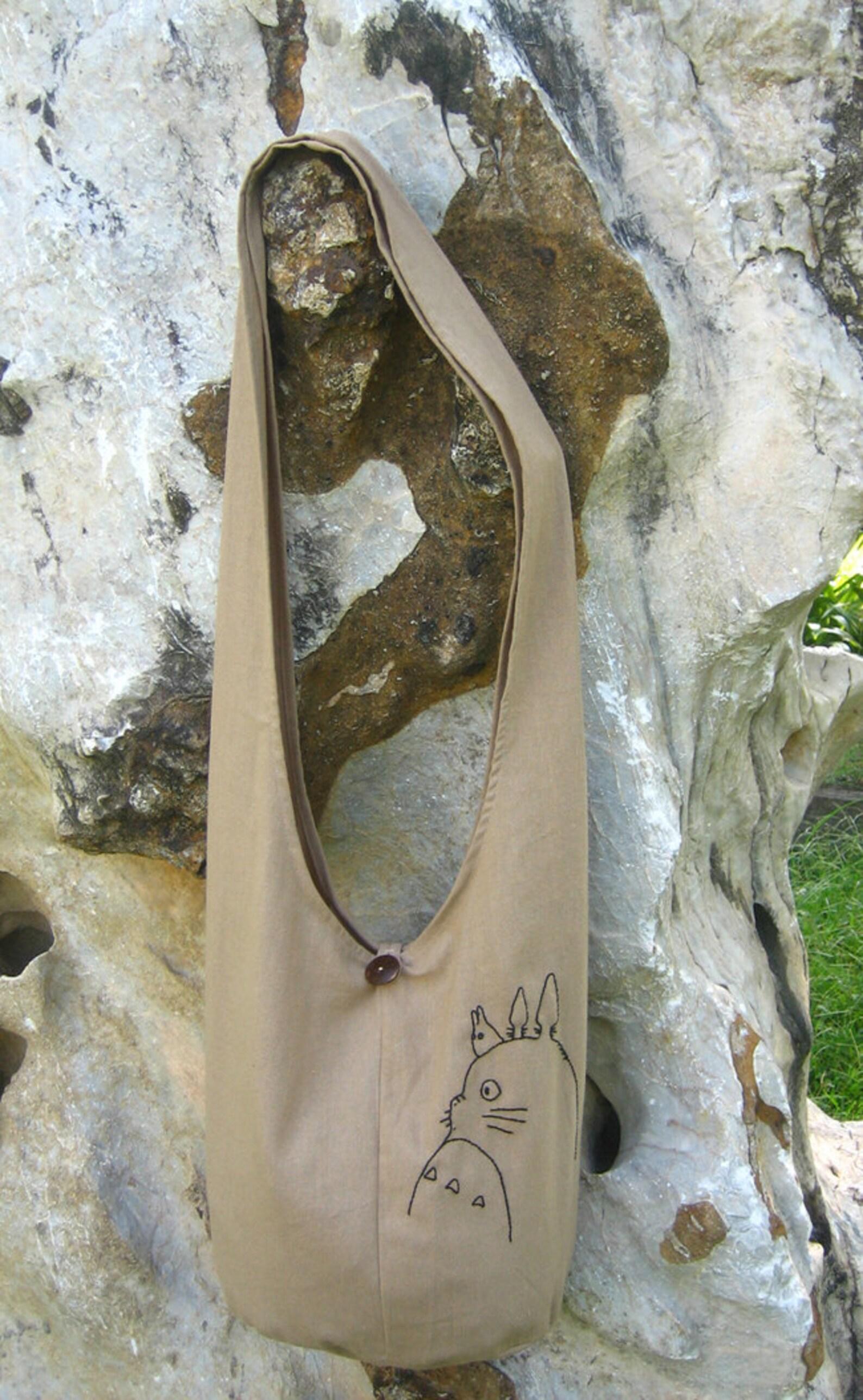My Neighbor Totoro Hip/ Shoulder/ Sling Bag cotton Thai Cotton 10 Cream Ecru