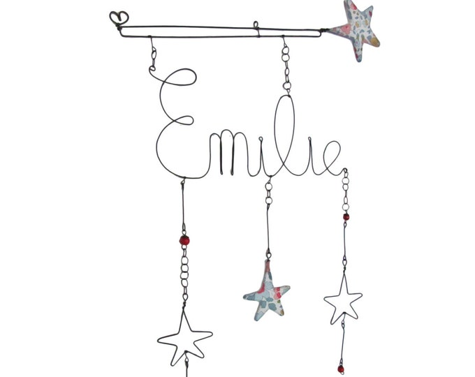 Fairy wand wire and Liberty Betsy wall hanging  to customize