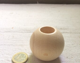 Big wooden bead 50 mm, polished, for your macramé