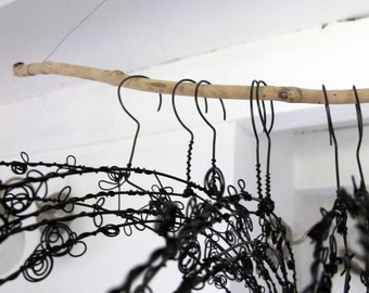 Decorative Hanger in wire - Rosebud-