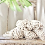 Macrame cotton string, 164 ft (50 m),  3 mm, macrame cotton, natural raw single twist 3 mm, cotton rope