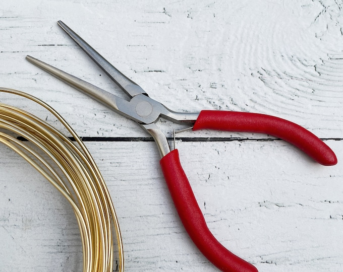 Flat tapered pliers for jewellery and wire work. tool for wire work