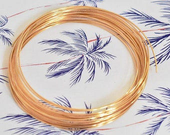 Wire - real gold plated,  0,8 mm, floral art, jewelry wire. 6 m, gold plated wire