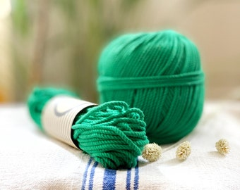Cotton rope, cotton cord, Macrame cord, Macrame cotton cord, cord, 3 mm macrame cord, cotton macrame 3 ply twisted , GREEN