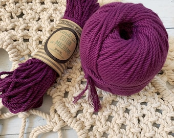 Cotton rope, cotton cord, Macrame cord, Macrame cotton cord, cord, 3 mm macrame cord, cotton macrame 3 ply twisted , PURPLE