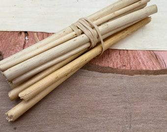 """set of 10 rattan sticks 13 cm long ( 5"""" long) :  ø 0.3 mm to ø 0.7 mm"""