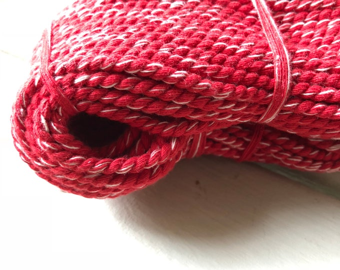 20 m of red with natural touch cotton cord in 3 mm